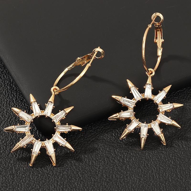 Jewelry new fashion crystal earrings creative light earrings women's NHNZ175193