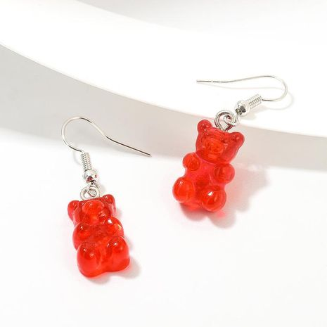 New earrings creative jelly series color bear earrings fashion earrings NHNZ175207's discount tags