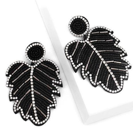 Creative Bohemian Leaf Earrings Alloy Diamond Crystal Beads Earrings Women NHAS175386's discount tags