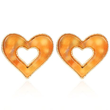Sweet and lovely lady peach heart stud earrings fashion stud earrings female NHCT175216's discount tags