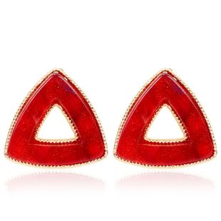 Accessories cute candy color triangle earrings resin earrings female NHCT175217's discount tags