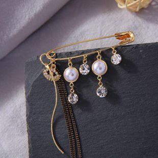 Fashion diamond diamond jewelry long tassel accessories female new creative brooch NHQD175423's discount tags