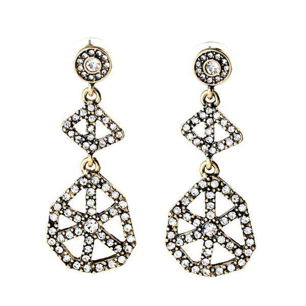 Fashion jewelry alloy generous hollow ladies earrings NHQD175399