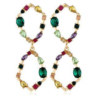 New diamond-studded alloy earrings geometric alloy earrings NHVA175499's discount tags