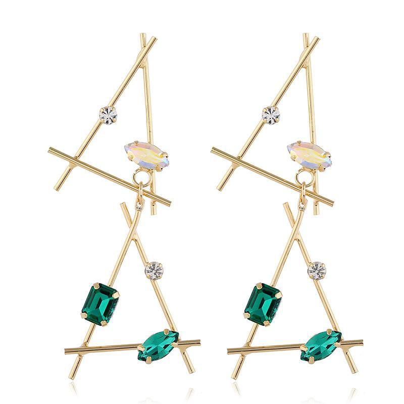 Fashion jewelry female alloy exaggerated geometric earrings NHVA175474
