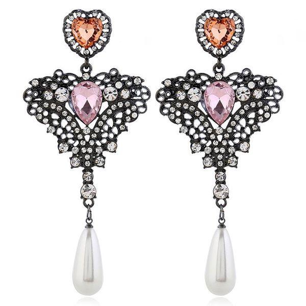 Fashion alloy diamond ladies earrings NHVA175478