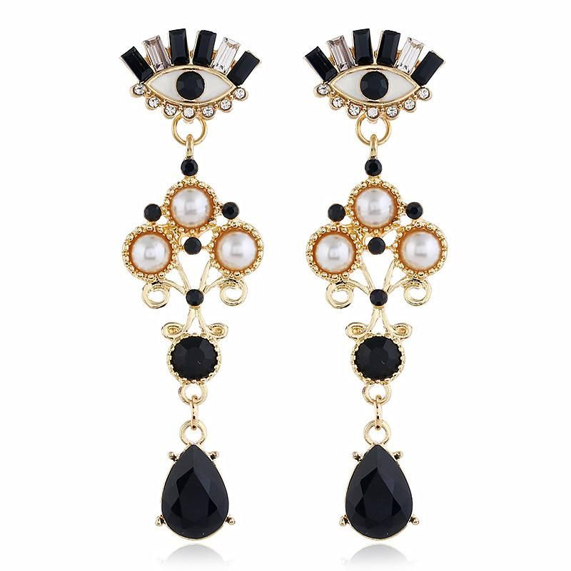 Retro eye earrings simple long paragraph exaggerated earrings female NHVA175496