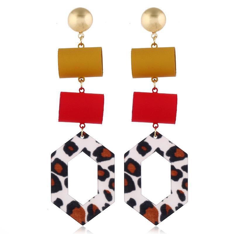 Fashion earrings new alloy acrylic female earrings NHVA175483