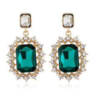 Simple fashion earrings full of diamond earrings female square zircon earrings NHVA175502's discount tags