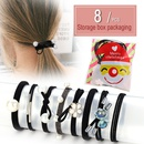 Hair rope hair accessories tie hair ponytail rubber band sweet head rope hair ring 8 piece suit NHPJ175349