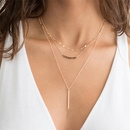 Fashion Jewelry Multilayer Chain Necklace Female Stainless Steel Strip Pendant Necklace 316L Clavicle Chain NHTF175319