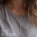 New stainless steel chain necklace female simple goldplated clavicle chain 316L accessories NHTF175321