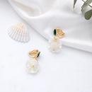 Creative Shell Pearl Earrings S925 Sterling Silver Stud Earrings Women Fashion Pierced Ear Clips NHQD175424