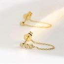 Earrings fashion stainless steel inlaid zircon earrings 316L chain tassel earrings NHTF175322