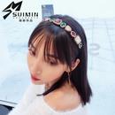 New hair accessories rhinestone super flash alloy color diamond fine side hair band ladies hair accessories NHSM175253