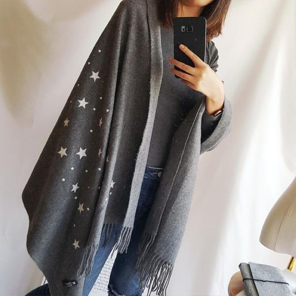 Star cashmere scarf female stars wool shawl warm dual-use thickening NHTZ175703