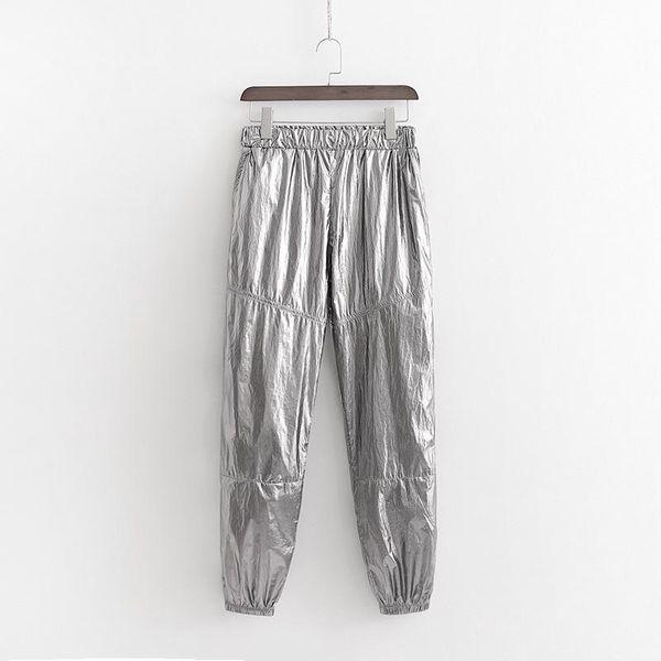 Sports trousers autumn new metal wire harem pants jogging NHAM175626