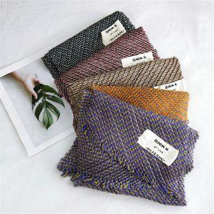 Bufanda tejida plisada Otoño Invierno Mujer Cuello plisado Calentamiento Borla NHMN175718's discount tags