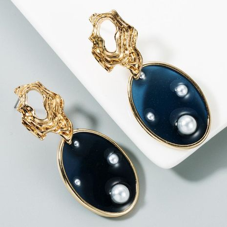 Pearl earrings ladies transparent oval earrings accessories street shooting NHLN175551's discount tags