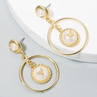 Aretes elegantes pendientes de perlas exageradas moda femenina de aleación NHLN175556's discount tags