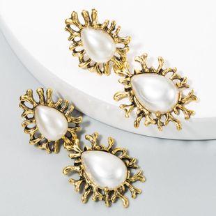 Aretes vintage de aleación femenina engastados con concha de perla pendientes de borla étnicos nacionales boho NHLN175558's discount tags