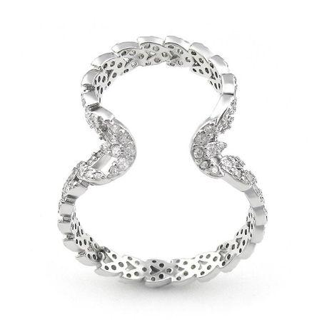 Heart-shaped micro-inlaid zircon earrings women's single ear clip ear bone buckle NHLJ175847's discount tags