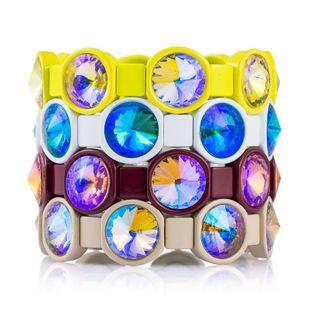 Pulsera de cristal navideño de cristal elástico bohemio elástico con circonitas NHLN175540's discount tags