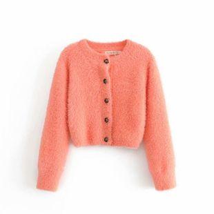 Otoño chaqueta de punto de piel de visón suéter abrigo suelto NHAM175638's discount tags