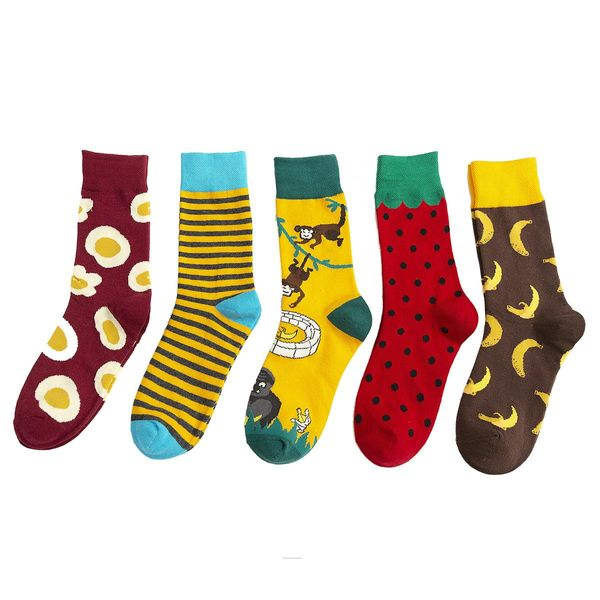 Medium tube cotton socks cartoon animal bee food pattern NHZG175725