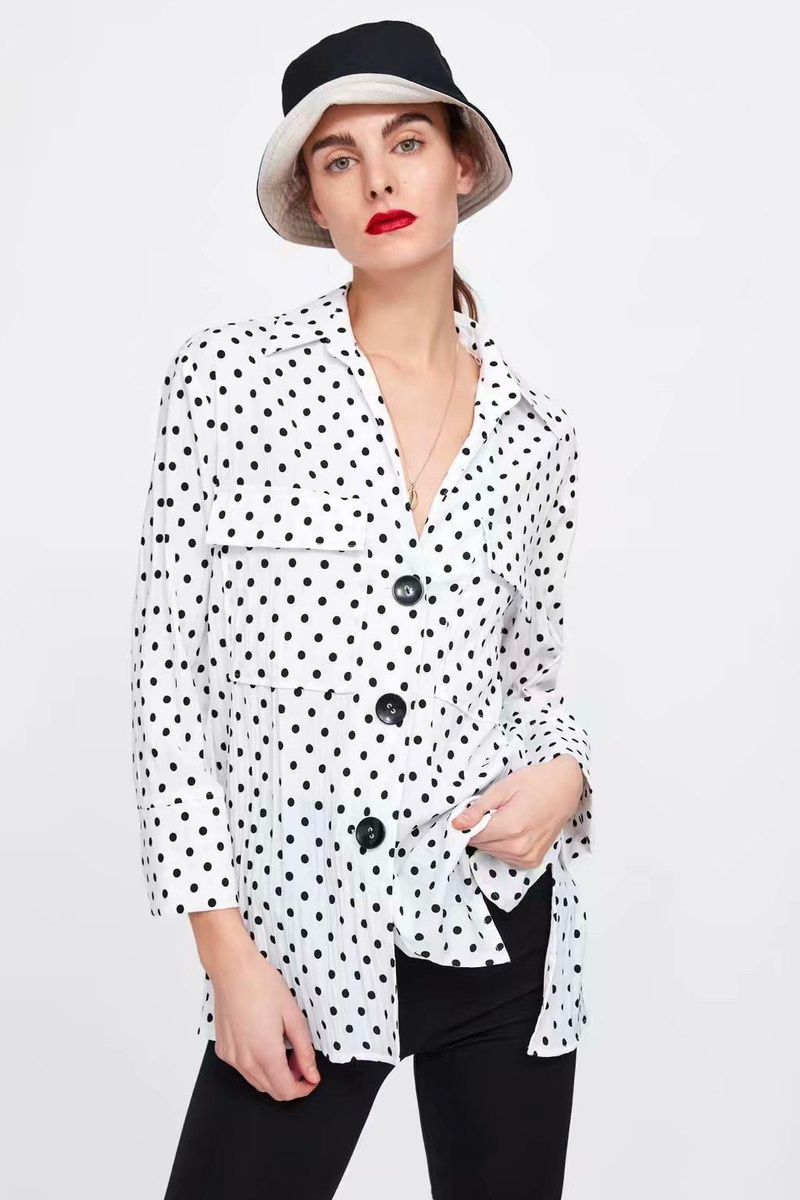 Polka Dot Blouse Top NHAM175619