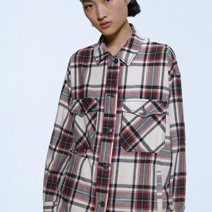 Nueva chaqueta de mujer a cuadros NHAM175589's discount tags