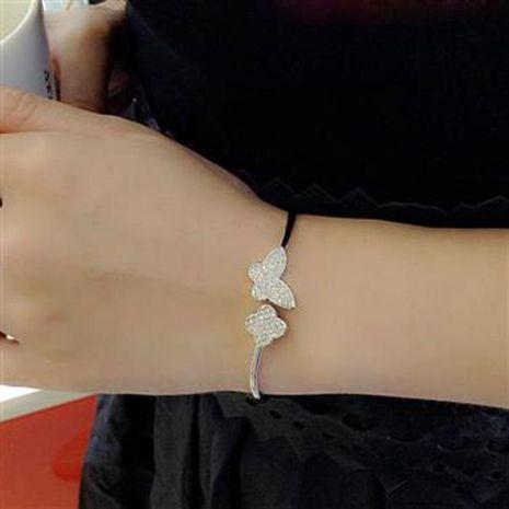 New butterfly flower-encrusted open bracelet NHLJ175937's discount tags