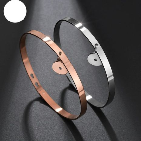 Smooth stainless steel bracelet DIY rose gold open bracelet watch accessories NHHF176027's discount tags