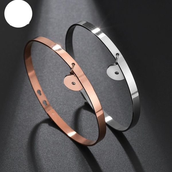Smooth stainless steel bracelet DIY rose gold open bracelet watch accessories NHHF176027