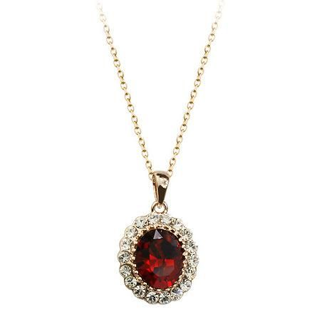 Vintage fashion accessories with diamonds oval crystal pendant necklace beautiful jewelry NHLJ175931's discount tags