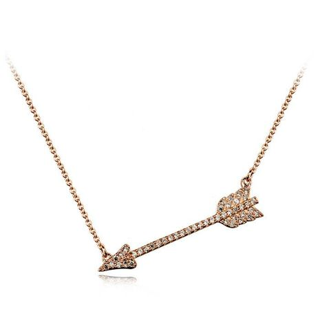 New clavicle chain decorated with diamond cupid arrow pendant necklace NHLJ175932's discount tags