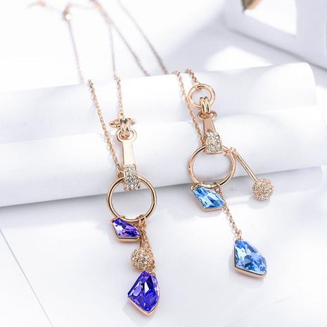 New classical style jewelry beautiful crystal necklace bridal accessories NHLJ175943's discount tags