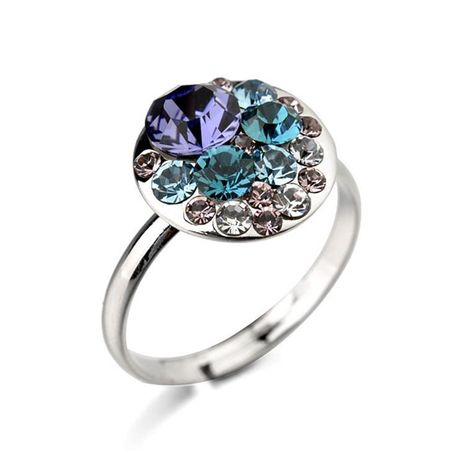 Exquisite high-grade diamond Austrian crystal ring fashion versatile jewelry NHLJ175911's discount tags