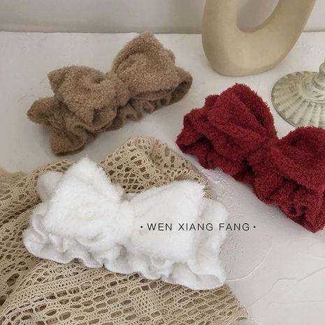 Arc doux large lavage des cheveux bande simple retenue bande de cheveux bandeau serre-tête NHOF176045's discount tags