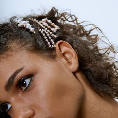 Alloy Pearl Hair Clip Set Hair Accessories Bridal Headdress NHJQ176173's discount tags
