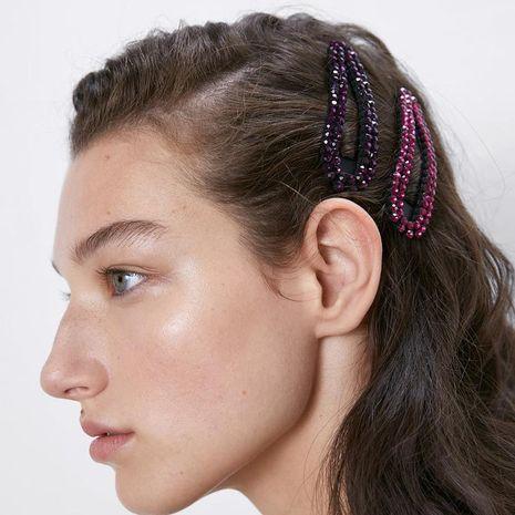 Alloy diamond hair clip set simple duckbill clip fashion side clip NHJQ176174's discount tags