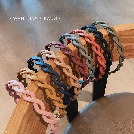 Hair decoration female cute matte twist hair band candy color headband headband NHOF176063's discount tags