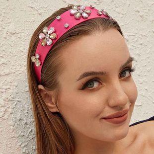 Baroque luxury headband glass drill temperament NHMD175878's discount tags