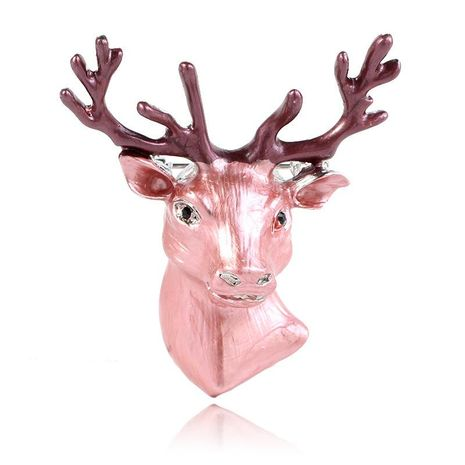 Three-dimensional stag clothing creative deer avatar brooch NHKQ175963's discount tags