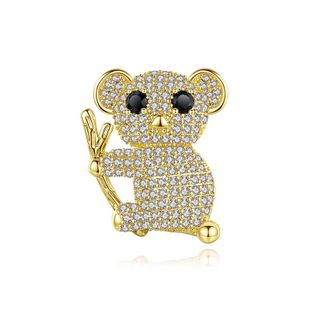 Sloth brooch fashion cute animal female banquet copper inlaid zircon brooch accessories pin NHTM176002's discount tags