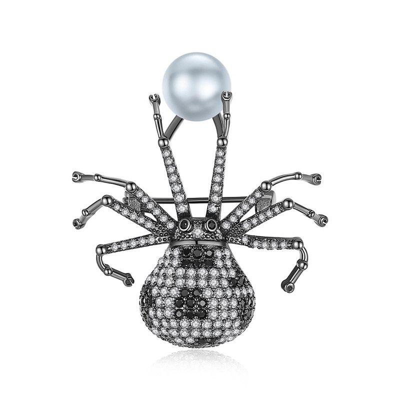 Koi spider brooch brooch accessories brooch spider animal zircon brooch NHTM176003