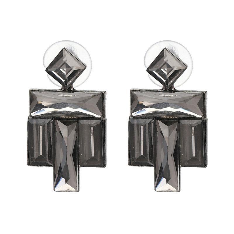 Geometric glass drill earrings jewelry NHJJ176131