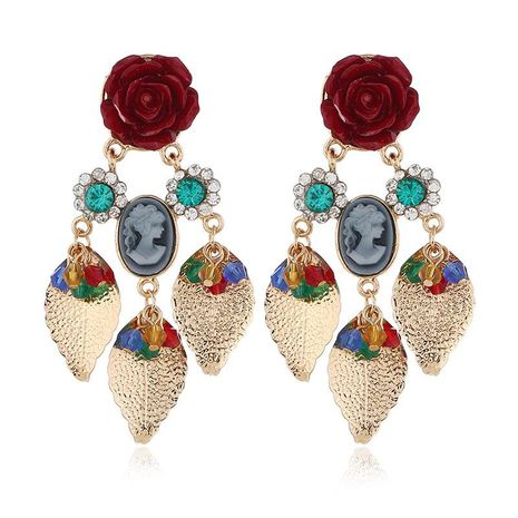 Earrings new beauty head earrings metal court retro fashion earrings NHKQ175977's discount tags