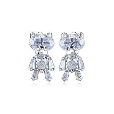 Stud earrings fashion sweet small copper inlaid zircon ladies earrings earrings gift NHTM175986's discount tags