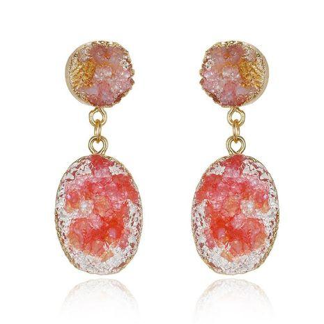 Boucles d'oreilles gravier résine de mode bijoux boucles d'oreilles gravier pierre naturelle NHGO176076's discount tags